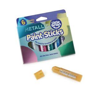 Paint Sticks Pack 6 Paint Assorted Metallic Colours Kids Home Work