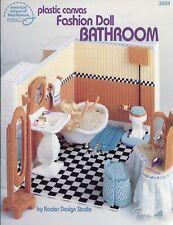 Fashion Doll Bathroom plastic canvas patterns fit Barbie fashion dolls
