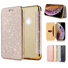 For Apple iPhone X XR 7 8 6S Plus Case Bling Shockproof Flip Wallet Phone Cover