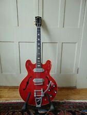 VINTAGE 1964 GIBSON ES 330 HOLLOW BODY ELECTRIC GUITAR  with FACTORY BIGSBY
