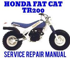 BEST 1986 1987 Honda TR200 Fat Cat FATCAT MOTORCYCLE Factory Service Manual CD