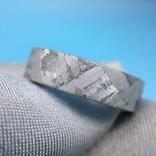Meteorite ring seymchan Widmanstatten accessory mineral amult jewelry iron18.5mm