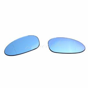For BMW E82 E88 E90 E91 E92 E46 Z4 OEM Side Door Wing Blue Mirror Glass Heated
