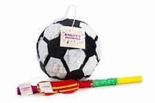 Fussball Pinata Set, Pinjatta + Stab + Augenmaske, Kinder Geburtstag Spiel