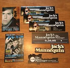JACK'S MANNEQUIN Andrew McMahon 4 PROMO STICKERS+POSTCARD for Glass Passenger cd