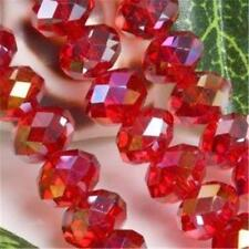 350pcs Red AB Swarovski Crystal Loose Bead 6X8mm##ZY378