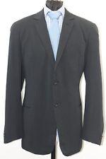 Giorgio Armani 2Btn. Black,Dark Gray Striped Wool/Poly/Silk Blend Suit 44R/38