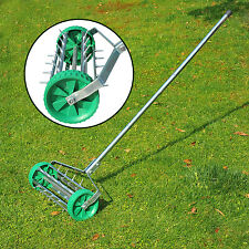 Outdoor Garden Lawn Aerator Heavy Duty Rolling Grass Roller Handle Perfect Lawns