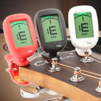 687F Clip-on LCD Electronic Digital Guitar Violin Bass Ukulele Banjo Tuner T30W