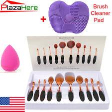 10Pcs Pro Makeup Brushes Set Foundation Powder Eyeshadow Eyeliner Brush Tool US