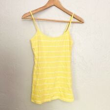 Forever 21 yellow and white striped cami M