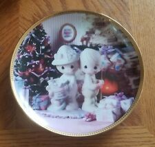 Enesco Precious Moments Collector Plate - Our First Christmas Together (1995)