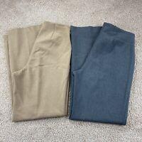 Talbots Classic Side Zip Straight Leg Pants - 2 Pair Bundle - Size 8 Womens
