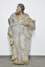 i99w59- Sakrale Skulptur, Heiliger, Holz geschnitzt, 17.Jh