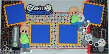 CraftEcafe Premade Scrapbook Page Paper Piecing Serious Gamer Boy BLJgraves 32