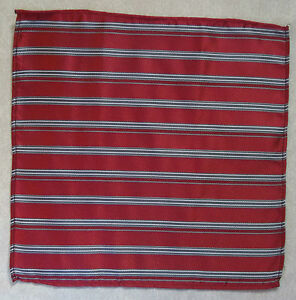 Handkerchief MENS Hankie NEW Top Pocket Square SHIMMERY RED WINE STRIPED