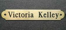"SADDLE PLATE 3"" x 1/2"" SM HALTER OR BRIDLE OR BROW SOLID BRASS CUSTOM ENGRAVED"