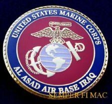 US MARINES MCAS AL ASAD IRAQ AIR BASE CHALLENGE COIN FSSG MAW VMA VMFA VMGR VMU