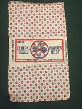 Vintage Central Feeds Charlie's Best Cotton  Material Flour Feed Sack 21 X 37