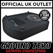 "Ground Zero GZCS 10SUB-ACT 10"" 300W 4 Ohm ACTIVE Spare Wheel Car Low Bass Box"