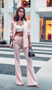 Authentic Rachel Zoe pink Suzanne Blazer & lourdes Pants 4/8 suit