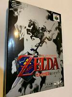 LEGEND OF ZELDA OCARINA OF TIME BOX N64 NINTENDO 64 GAME LOT SET JAPAN