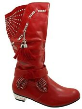 25 Scarpe Stivali rosso per bambine dai 2 ai 16 anni