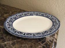 """Ralph Lauren EMPRESS 14"""" x 11"""" Oval Serving Platter - Blue"""