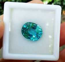 15.30ct.14.5x12mm.TOP COLOR! OVAL NEON BLUE PARAIBA TOURMALINE CREATE AAA+