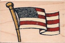 American Flag GR1157 Stampabilities Rubber Stamp ~ w/m Free Shipping  NEW