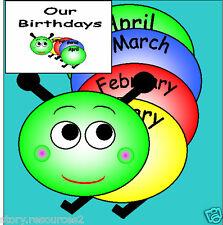Our Birthday Display Classroom teaching resources KS1 KS2 EYFS CHILDMINDER cd