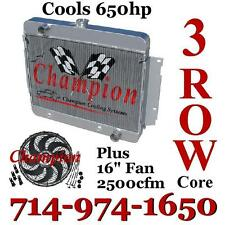 "3 Row Champion Radiator For 1969-1970 Chevy Impala With 16"" Reversible Fan"