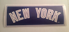 "Yankees FATHEAD ""New York"" Blue Sign 18.5"" x 7"" Official MLB Wall Graphics"