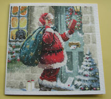 10 CHRISTMAS CARDS WITH ENVELOPES.  'Santa's Little Red Book'  EXCELLENT QUALITY