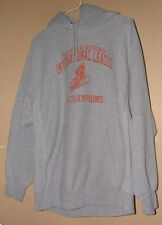MV SPORT BUFFALO BISONS 2004 CHAMPS GRAY REVERSE WEAVE HOODED SWEAT SHIRT-M !!