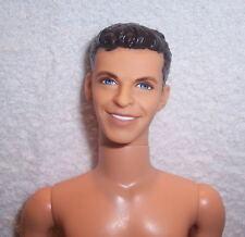 NUDE-Ken-22953-Barbie-Head Mold:Sinatra-Body:Poseable-Hair:Molded Brown