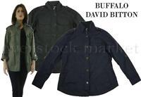 NEW WOMEN'S BUFFALO DAVID BITTON LIGHTWEIGHT MILITARY JACKET! ROLL TAB! VARIETY!