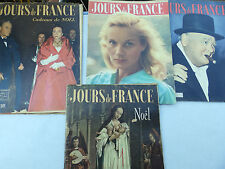 LOT DE 5 REVUES JOUR DE FRANCE N° 3 / 4 / 6 / 7 / 1954