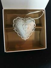 Margaret Furlong 2.5� Large Heart Ornament bisque 1997 in original box