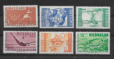 NICARAGUA , 1949 , SPORTS , SET OF 6, PERF , MNH