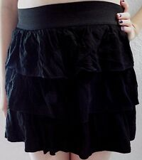 By & By Girls Black Ruffled Skort With Elastic Waist Size XL 16 Really Cute