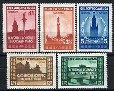 507 - Yugoslavia 1946 - Pan Slavic Congres - MNH(**) Set
