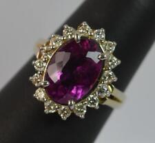 Tourmaline Engagement Oval Yellow Gold Fine Gemstone Rings