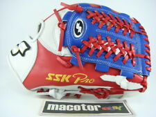 "SSK Special Top Pro Order 11.75"" Infield Baseball Glove Blue Red RHT Deer USA"