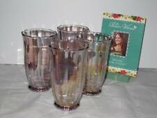 BNIB Pioneer Woman Pearlized Pink Glass Tumbler Set of 4 Glasses