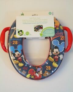 Disney Mickey Mouse Soft Potty Training Seat Removeable Splash Guard 18+ Months