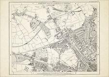 Old map London 1877 #5 reproduction - Kilburn, St Johns Wood, Kensal Green