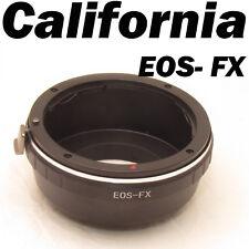 Canon EOS EF EF-S Mount Lens to Fujifilm Fuji X-Pro1 XPro1 FX Camera Adapter
