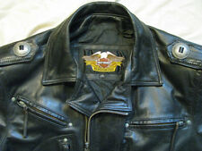 Harley Davidson Leather Motorcycle Jacket Black Heritage Boise USA Made Mens M