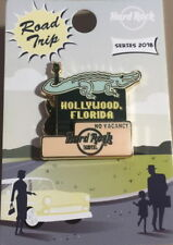 Hard Rock Hotel HOLLYWOOD FL 2018 ROAD TRIP Series PIN on Card Retro Style Sign